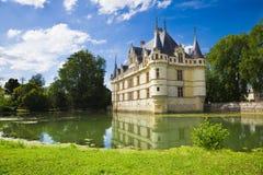 Azay-le-Rideau Chateau, France Images libres de droits