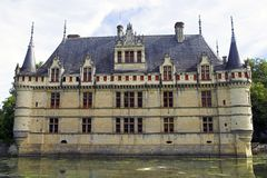 Azay le Rideau Chateau, France Royalty Free Stock Photos