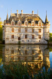 Azay-le-Rideau chateau, France Stock Photos