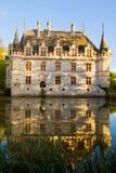 Azay-le-Rideau chateau, Frankrijk Stock Foto's