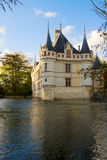 Azay-Le-Rideau Chateau, Pays-de-la-Loire Stockbild