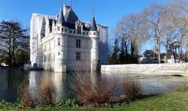 ` Azay-le-Rideau de Château d france Arquitetura francesa do renascimento imagem de stock