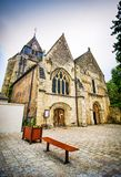 Azay le Rideau, France - June 24, 2012. Historic church in downtown.  stock image