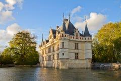 Azay-le-Rideau kasteel, Frankrijk Stock Afbeeldingen