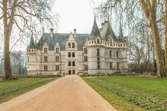 ` Azay le Rideau/Loire Valley do castelo d imagens de stock