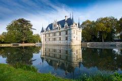 ` Azay-le-Rideau, Loire Valley, Frankrike för Chateau D Arkivbilder