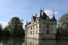 Azay le Rideau and moat Stock Image