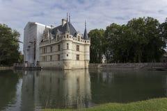 Azay le Rideau slott i Loiret Valley Arkivfoton