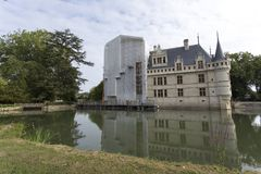 Azay le Rideau slott i Loiret Valley Royaltyfri Fotografi