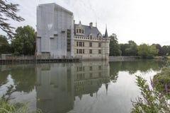 Azay le Rideau slott i Loiret Valley Arkivbilder
