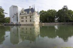 Azay le Rideau slott i Loiret Valley Fotografering för Bildbyråer