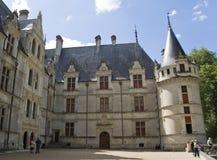 azay Le zamku yard Rideau zdjęcie stock