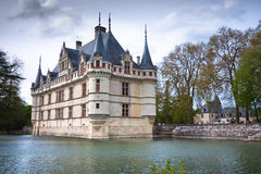 Azay leRideau castle,卢瓦尔Valley,法国。 免版税图库摄影