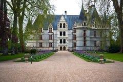 Azay leRideau castle,卢瓦尔Valley,法国。 库存图片