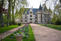 Azay leRideau castle,卢瓦尔Valley,法国 图库摄影