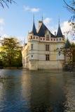 Azay leRideau chateau,卢瓦尔河地区 库存图片