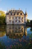 Azay leRideau chateau,法国 免版税图库摄影