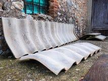 Azbestów okładkowi elementy Obrazy Stock