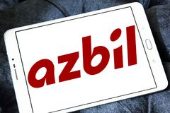 Azbil Korporation logo royaltyfri bild