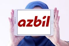 Azbil Korporation logo royaltyfri fotografi