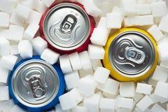 Azúcar en comida Imágenes de archivo libres de regalías