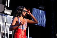 Azealia Banks performs at Matadero de Madrid on June 22, 2012 in Madrid Royalty Free Stock Photos
