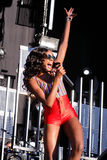 Azealia Banks performs at Matadero de Madrid on June 22, 2012 in Madrid Royalty Free Stock Image