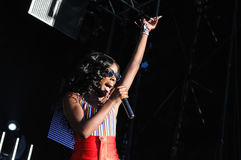 Azealia Banks performs at Matadero de Madrid Stock Photo