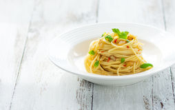 Azeite e peperoncino de Spageti Imagens de Stock Royalty Free