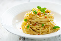 Azeite e peperoncino de Spageti Foto de Stock