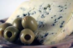 Azeitona e queijo Imagem de Stock