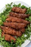 Azeitonas da carne e vertical da salsa Fotografia de Stock