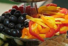 Azeitonas e pimentas Imagens de Stock Royalty Free