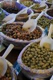 Azeitonas em um mercado francês Fotografia de Stock Royalty Free