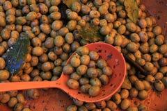 Azeitonas em um mercado francês Fotos de Stock Royalty Free