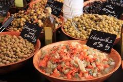 Azeitonas em um mercado francês Imagem de Stock Royalty Free