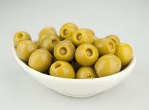 Azeitonas enchidas com anchovas Foto de Stock