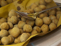 Azeitonas enchidas fritadas Imagem de Stock Royalty Free