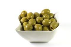 Azeitonas gregas verdes Imagens de Stock Royalty Free