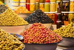 Azeitonas marroquinas frescas Foto de Stock Royalty Free