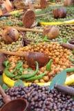 Azeitonas - mercado França de Provence imagens de stock
