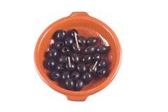 Azeitonas pretas Foto de Stock