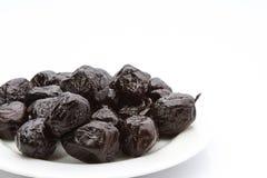 Azeitonas pretas secas Foto de Stock