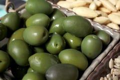 Azeitonas verdes Imagem de Stock