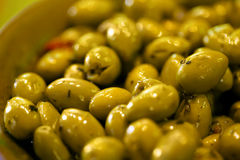 Azeitonas verdes Fotografia de Stock Royalty Free