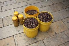 Azeitonas verdes Fotos de Stock