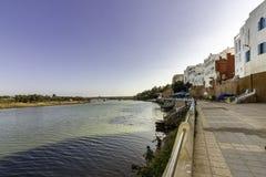 Azemmour, widok od antycznych fortecznych ścian Obrazy Royalty Free