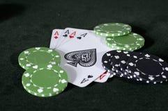 Azen, zwarte en groen Royalty-vrije Stock Foto's