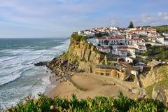 Azenhas毁损村庄,辛特拉,里斯本,葡萄牙 库存图片