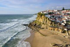 Azenhas毁损村庄,辛特拉,里斯本,葡萄牙 图库摄影